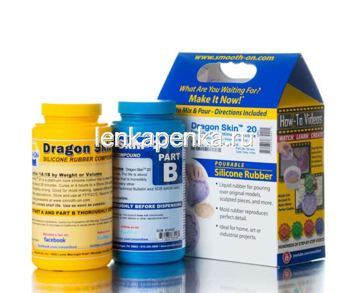 Dragon Skin 20 - жидкий силикон на платине