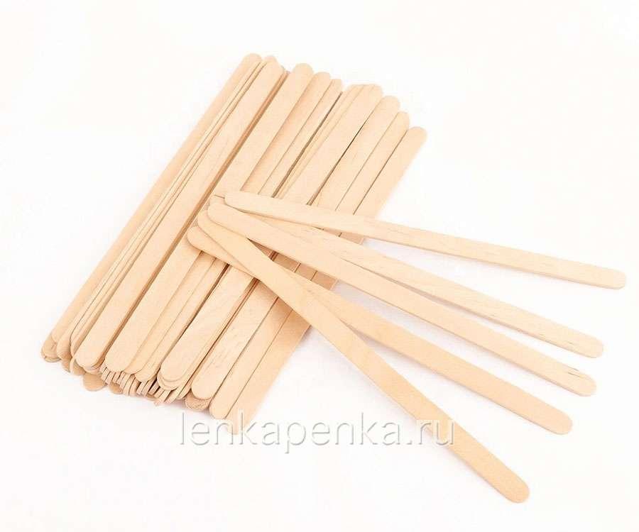 Шпатель деревянный узкий 140х6х1,8-0